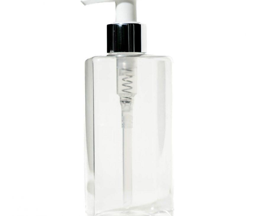 reusable PET bottle with pump