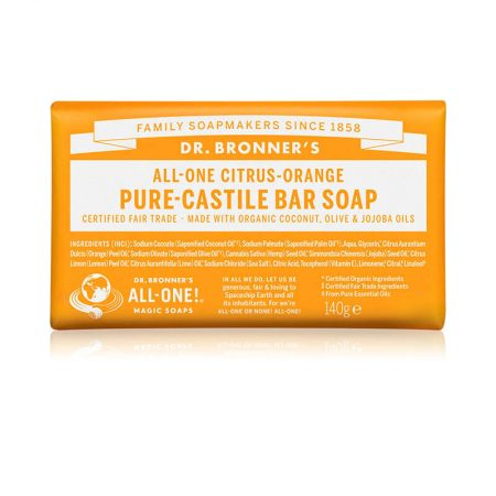 Dr. Bronners Citrus-Orange Pure-Castile Bar Soap