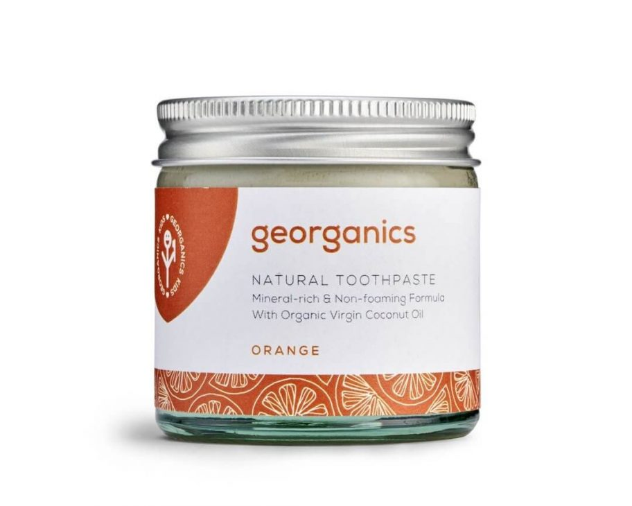 georganics zero waste toothpaste orange