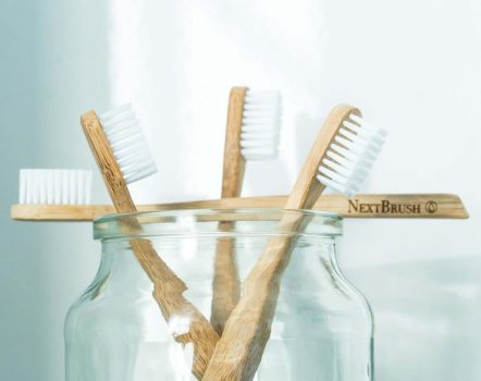 Set of Bamboo Toothbrushes