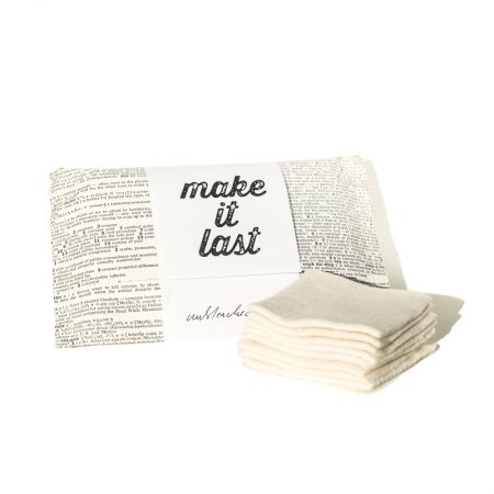 Reusable cotton make-up remover pads white by Make it Last