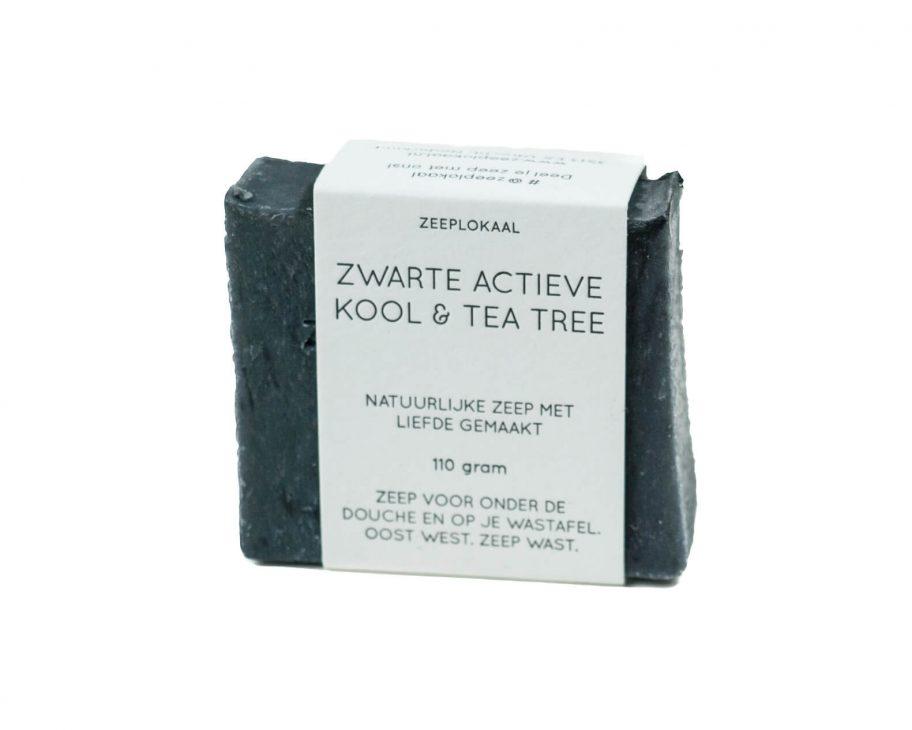 Zwarte actieve kool & tea tree