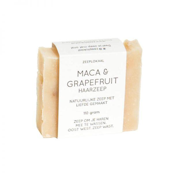Zeeplokaal Haarzeep Maca & grapefruit