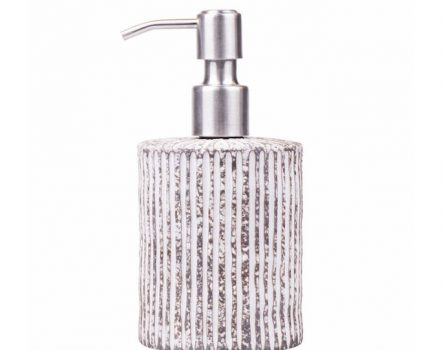"We Love The Planet - Soap Dispenser ""Stripe"" ceramic with metal pump"