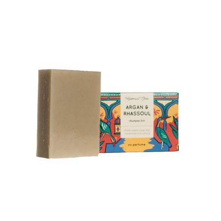 Helemaal Shea Argan - Rhassoul shampoo bar