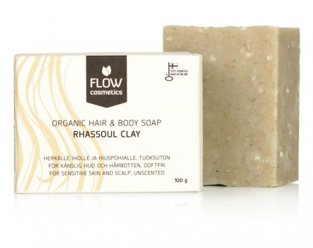 Flow CosmeticsShampoo and Body Bar Rhassoul Clay