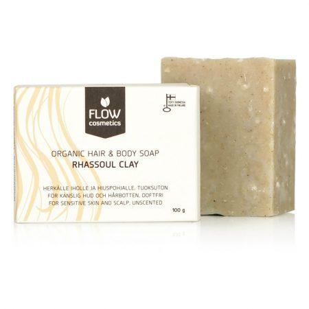 Flow CosmeticsShampoo and Body Bar Rhassoul Clay