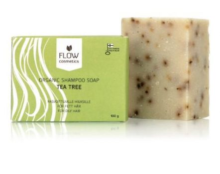 Flow Cosmetics Organic Shampoo Bar Tea Tree for oily hair and sculp