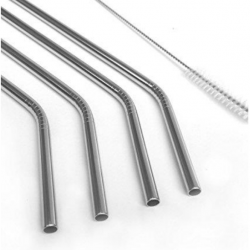 Stainless steel straw - reusable, plastic free