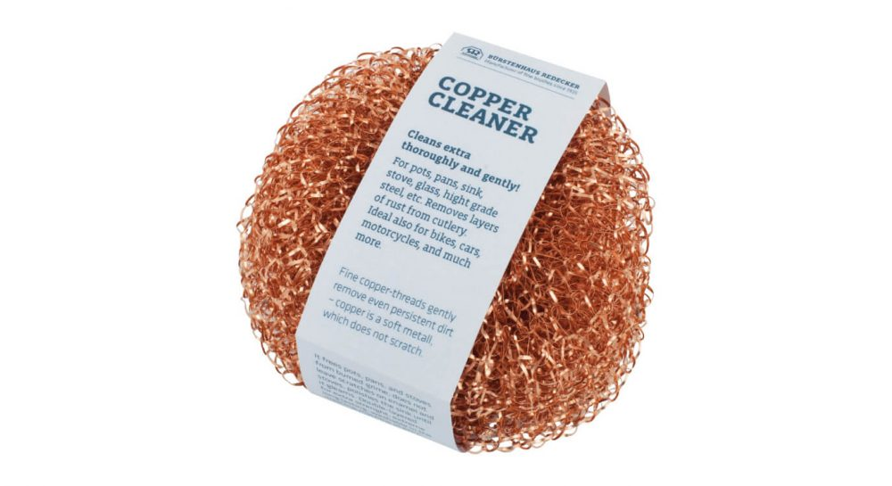 Copper cleaner for pods and pans (plastic free)