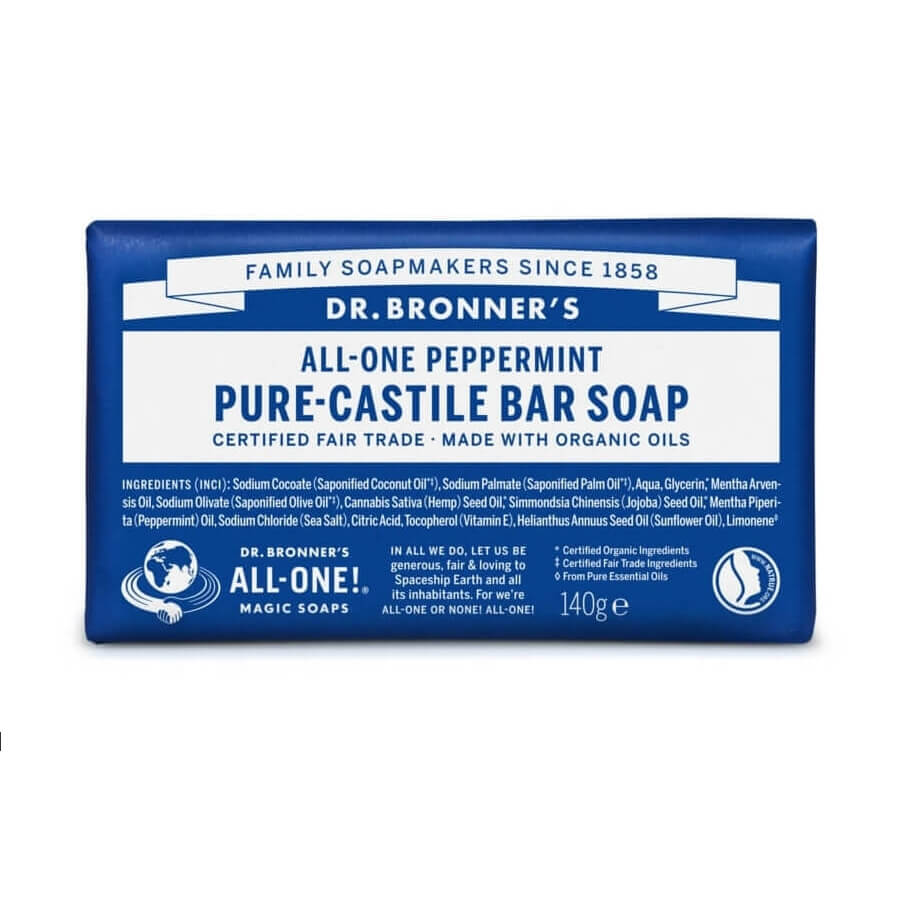 Dr. Bronner All-One Peppermint Soap Bar