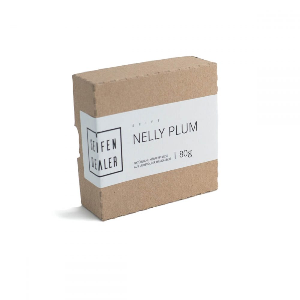 Soap Nelly Plum Recycled carton box