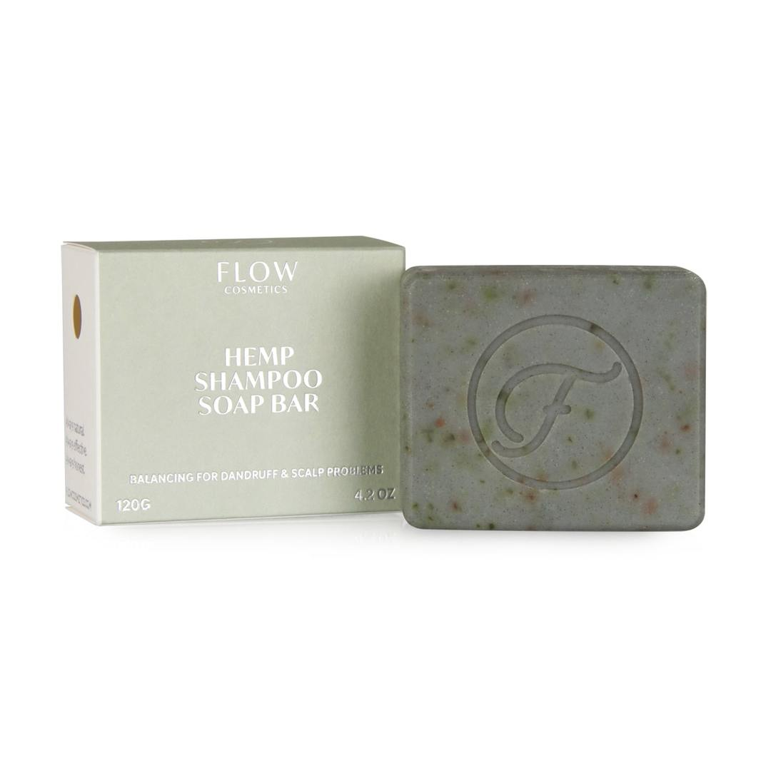 Flow Cosmetics Hemp Shampoo Bar against dandruff and scalp problems