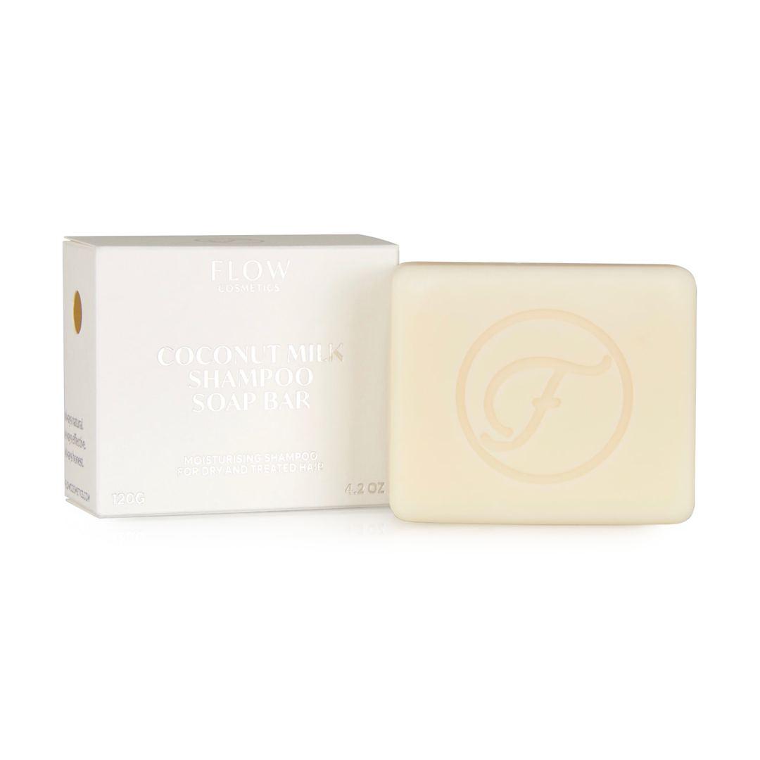 Flow Cosmetics Coconut milk shampoo bar voor droog en behandeld haar