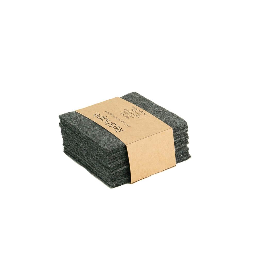 Reusable Makeup remover pads Black