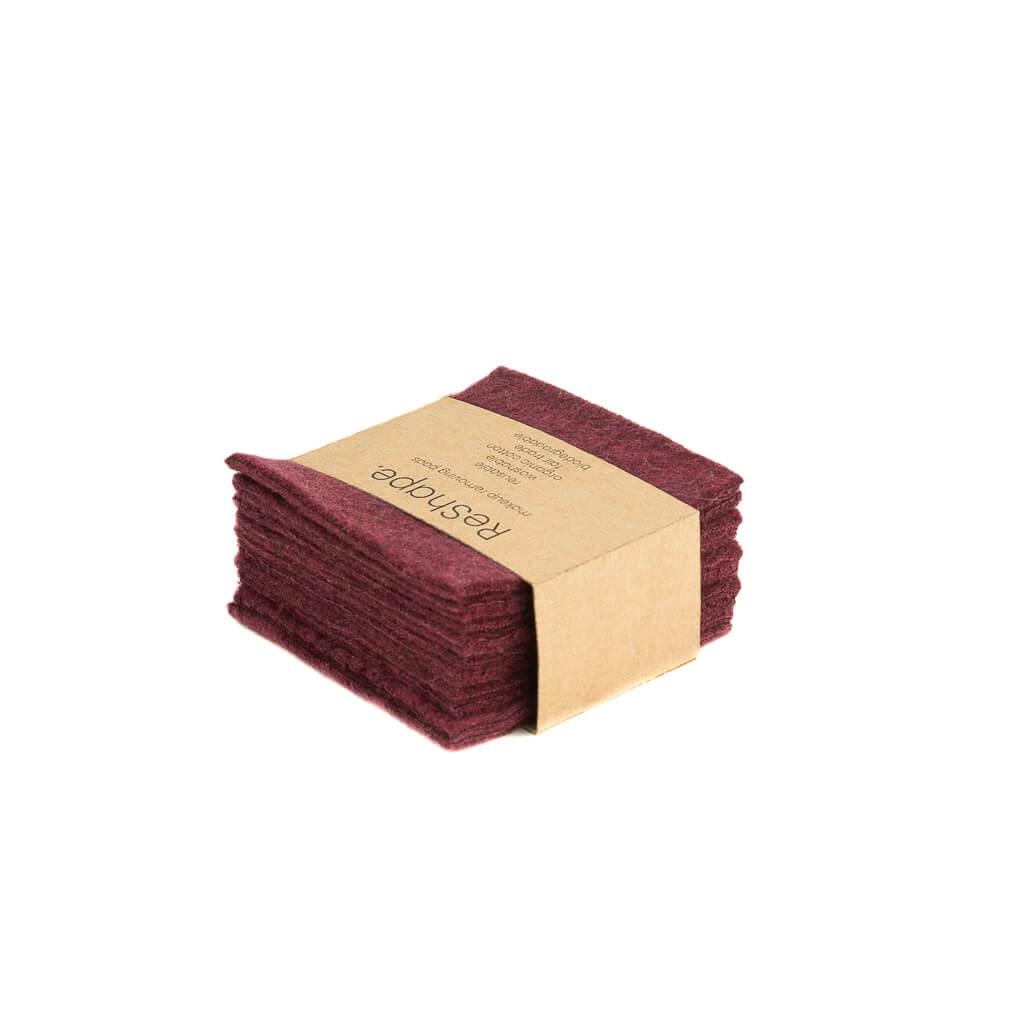 Reusable Makeup remover pads dark pink