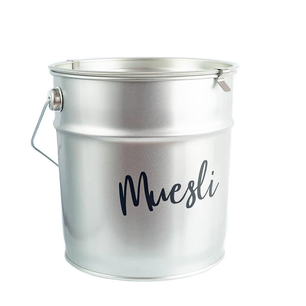 Muesli Storage Container Metal Bucket
