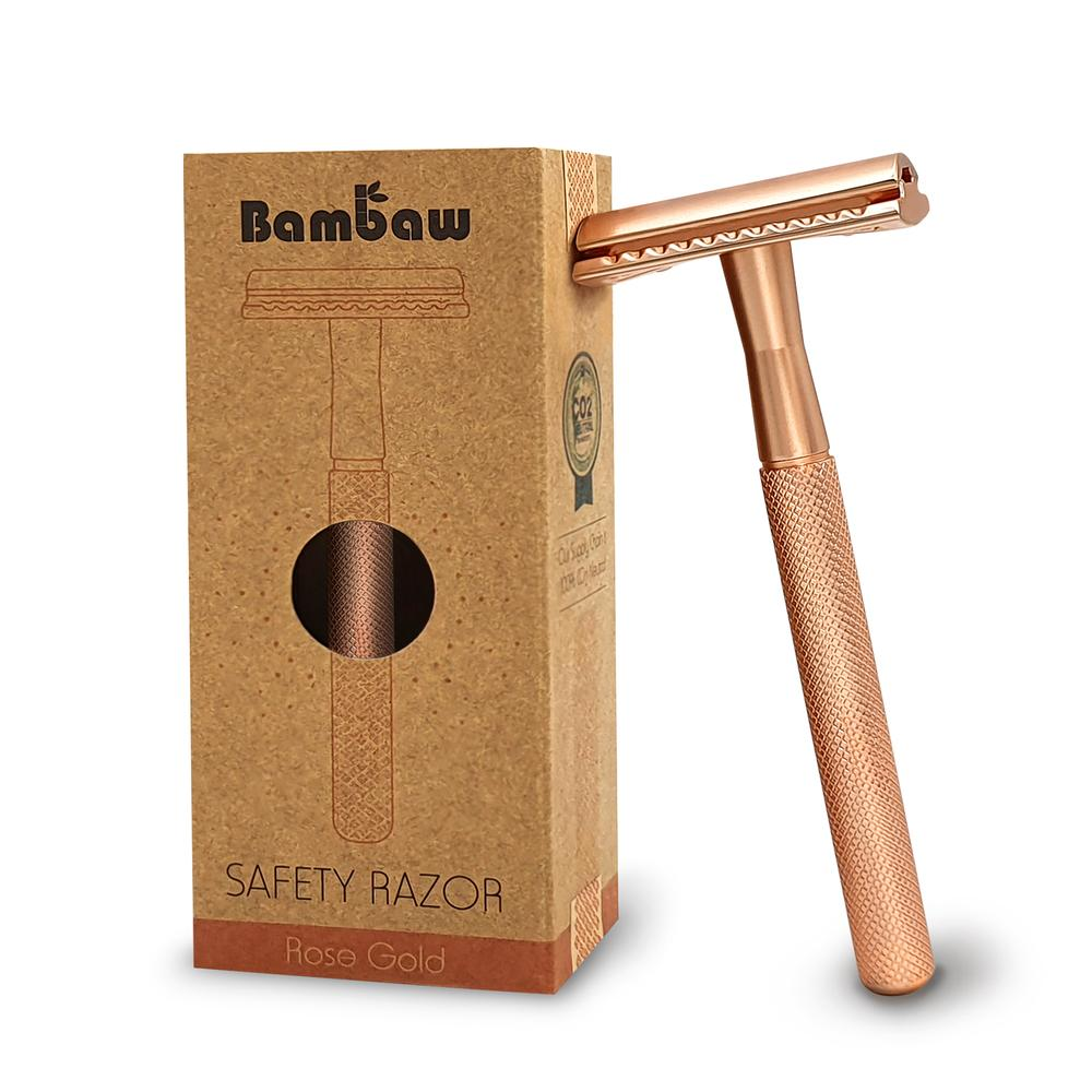 Bambaw Stainless Steel Safety Razor Rose Gold