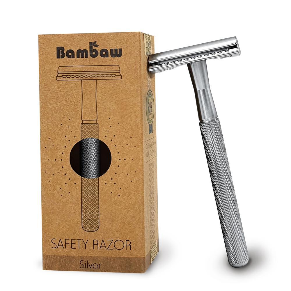 Bambaw stainless steel safety razor silver